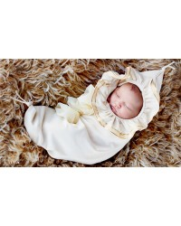 Organic Angel Baby Hooded Cocoon